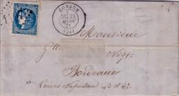 GERS - CONDOM LE 23 MARS 1871 - N°46 CERES DE BORDEAUX OBLITERATION GC. - Marcophilie (Lettres)