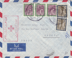 Exp.: Vust, Red Cross. Arabia Saudita To Genova Italy 1967 - Saudi Arabia