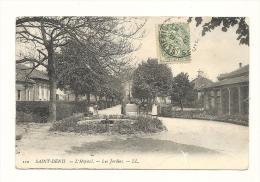 Cp, 93, Saint-Denis, L'Hôpital, Les Jardins,  Voyagée 1907 - Saint Denis