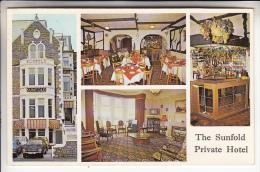 ROYAUME UNI ( UNITED KINGDOM ) WESTON SUPER MARE - AVON : Sunfold Private Hotel - CPSM PF RARE ? (0 Sur Le Site) - Weston-Super-Mare