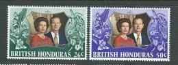 "British Honduras        ""Silver Wedding""       Set      SC# 306-07 MNH** - Royalties, Royals"