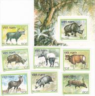 Vietnam 1988 Wild Animals Set And Mini Sheet MNH - Vietnam