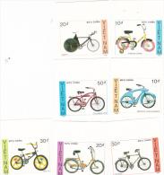 Vietnam 1989 Bicycles Imperforated Set MNH - Vietnam