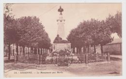 (RECTO / VERSO) SISSONNE EN 1932 - N° 54 - LE MONUMENT AUX MORTS - Sissonne