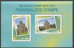 2013 The World Stamp Expo Personalised Stamps Only Available From 2013 Year Book   Complete Mint Never Hinged - Blocks & Sheetlets