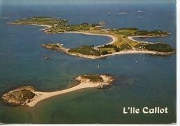 L' Ile Callot Vue Aérienne On Y Accède à Marée Basse Par La Passe Aux Moutons - Jack - Carantec