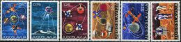 YG0122 Yugoslavia 1971 Earth Satellite Space Station 6v MNH - Unused Stamps
