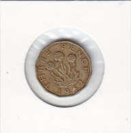 3 PENCE 1942 - 1902-1971 : Post-Victorian Coins