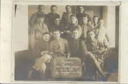 """Militaria - Carte Photo, Soldats Français - Honneur Aux """"BRULEURS DE LOUPS DE LA 11E - LOU MAGNIANOS TERRIBLES - Equipment"""