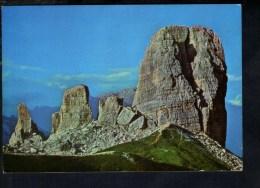 L357 Le Cinque Torri ( Dolomiti Ampezzone ) Da Sud Ovest - Die Fuenf Tuerme - Naturals Colours 2/1023/G - Italia