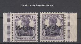 Belgien,16,rechts,links Dgz,xx  (3640) - Besetzungen 1914-18