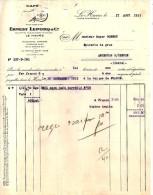 76 323 LE HAVRE SEINE 1933 Café ERNEST LEPORQ Succ ALEXANDRE HUGUES 3 Rue Fontenelle à GOBERT - Alimentaire