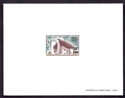 TIMBRES DE FRANCE- DOM-TOM-  RÉUNION- EPREUVE DE LUXE AVEC SURCHARGE CFA- N° 392 DU  CATALOGUE MAURY - Epreuves De Luxe