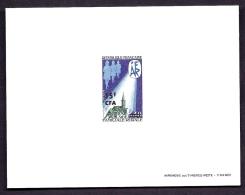 TIMBRES DE FRANCE- DOM-TOM-  RÉUNION- EPREUVE DE LUXE AVEC SURCHARGE CFA- N° 414 DU  CATALOGUE MAURY - Epreuves De Luxe