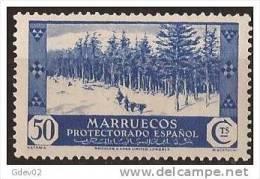 MA156-LA978TVAR.Marruecos  .Maroc.Marocco.MARRUECOS ESPAÑOL VISTAS Y PAISAJES 1935/7.(Ed 156**)  Sin Charnela LUJO RAR - Árboles