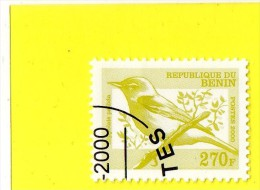 ,,,HIPPOTAIS PELLIDA   ,,, VALEUR FACIALE  **  270 F. ** ,, POSTE  2000 ,,,  BENIN ,,,TBE - Birds