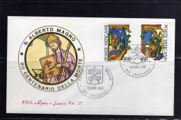 VATICANO VATICAN VATIKAN 1980 SANT´ALBERTO MAGNO SERIE COMPLETA FDC ROMA - FDC