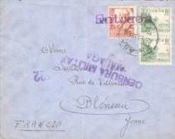 ESPAGNE SPAIN ESPANA LETTRE AVEC CENSURE MILITAIRE DE MALAGA POUR BLENEAU  1938 TB - Marcas De Censura Nacional