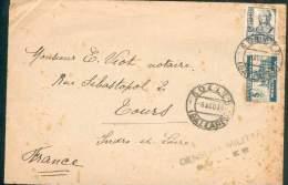ESPAGNE SPAIN ESPANA LETTRE AVEC CENSURE MILITAIRE  DE SOLLER BALEARES POUR TOURS  1938 TB - Republikanische Zensur