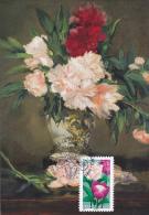 Carte Maximum FRANCE AA (PIVOINES) Obl Sp Ill 1er Jour (Ed Musée D'Orsay - Tableau De MANET) - Cartes-Maximum