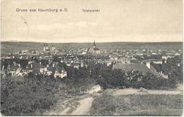 NAUMBURG-GRUSS AUS NAUMBURG-TOTALANSICHT-VERSUNDEN 1912-PHOTOGR.AUFN U VERL.O.BLAUBACH- 2 SCANS - Naumburg (Saale)