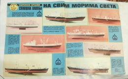 SPLOŠNA PLOVBA Slovenia (Yugoslavia International Shipping Company)  Scale Model Ship, Maquette De Bateau / POSTER - Boats