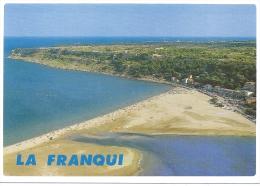 CPSM Aérienne La Franqui 11 Aude Cap Des 3 Frères Phare Leucate Plage édit Larrey N° 14580  écrite 1998 - Autres Communes