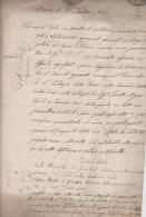 DOCUMENT PURIFIE  (?) DE BRESCIA - LOMBARDIE 1841-  FASCICULE DE 4 PAGES + CACHETS - A VOIR BELLE PIECE - Italia