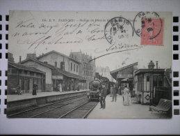 156. PARIS 19eme.STATION DU PONT DE FLANDRE SUR LES QUAIS.1906.TB ETAT.SUPERBE ANIMATION - Métro Parisien, Gares