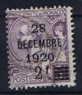 Monaco: 1921 Mi. Nr 48  Used - Gebruikt