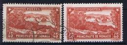 Monaco: 1933 Mi. Nr 124 A + B  Used  Red And Braunred - Monaco