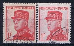Monaco: 1938 Mi. Nr 163 + 163 A Used  176 A + B - Gebraucht