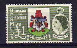 Bermuda - 1953 - £1 Pound Definitive - MH - Bermudes