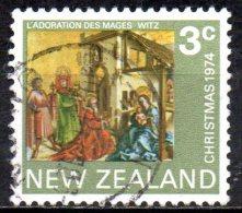 NEW ZEALAND 1974 Christmas - 3c The Adoration Of The Magi (Konrad Witz)  FU - Nouvelle-Zélande