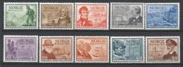 Norvège 1947 N°293/303 Neufs** MNH Tricentenaire De La Poste - Neufs