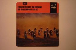 Sports Moto-carte Fiche Moto - Championnat Du Monde De Motocross 125cc ( Description Au Dos De La Carte - Cartes Postales