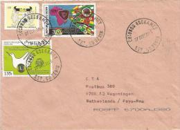 Benin 2005 Cotonou Cat Lions Dove Pigeon Cover - Benin – Dahomey (1960-...)