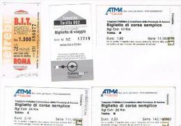 BIGLIETTI AUTOBUS DI DIVERSE CITTA' ITALIANE (LEGGI DESCRIZIONE) - Autobus