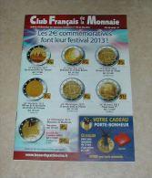 Catalogue Club Français De La Monnaie Mai 2013 N° 166 - French