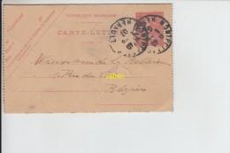 Carte Lettre De Beziers A Montpellier - Vieux Papiers