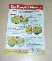 Catalogue Club Français De La Monnaie Juillet 2013 N° 168 - French