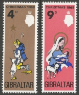 Gibraltar. 1968 Christmas. MH Complete Set - Gibraltar