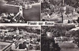 Ai - Cpsm Grand Format Plouer Sur Rance - Port St Hubert, Eglise, Bourg, Château (En Avion Au Dessus De ..., Lapie) - Plouër-sur-Rance