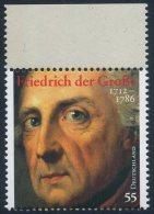 !a! GERMANY 2012 Mi. 2906 MNH SINGLE W/ Top Margin (a) -Frederick The Great - BRD