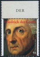 !a! GERMANY 2012 Mi. 2906 MNH SINGLE W/ Top Margin (c) -Frederick The Great - Ungebraucht
