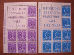 1966 BLOCCO ANGOLARE MNH** - EUROPA UNITA - 6. 1946-.. Republic
