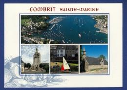 29 COMBRIT STE-MARINE Port De Sainte-Marine, Eglise Paroissiale, Chapelle De Sainte-Marine ; Voilier 4 Vues - Animée - Combrit Ste-Marine