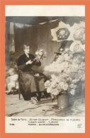 Salon De PARIS Victor GILBERT Marchande De Fleurs // CPA - Paintings