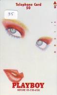 Télécarte Japon * PLAYBOY * MAGAZINE (35) EROTIQUE * 110-011 * FEMME  SEXY Bikini Girl Japan Phonecard  Frau TK * EROTIC - Advertising