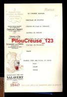 07 Ardèche - BOURG SAINT ANDEOL - MENU - SALAVERT Négociant - 3 Grands Vins Des Côtes Du Rhône - Château De Thouet - - Menus